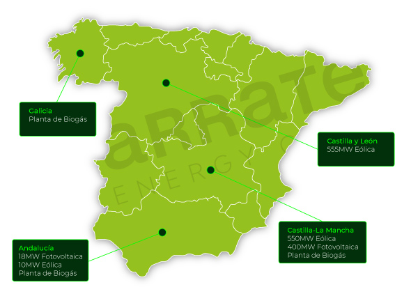 Mapa de proyectos Grupo Arrate